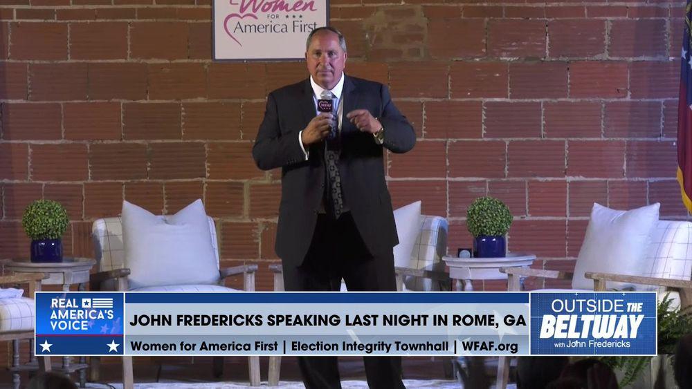 John Fredericks Speaking Last Night at Women for America First in Rome, GA