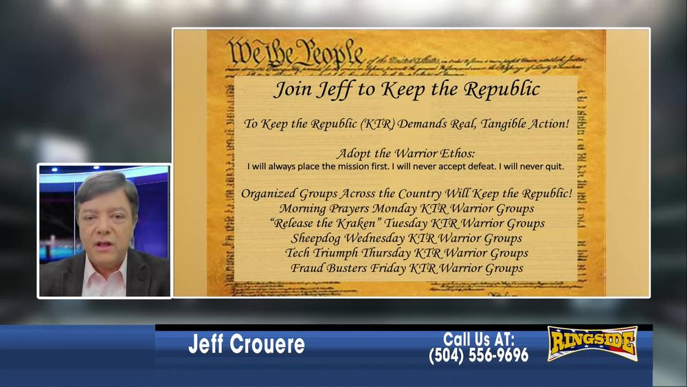 Jeff introduces The Keep The Republic Project January 4 2021