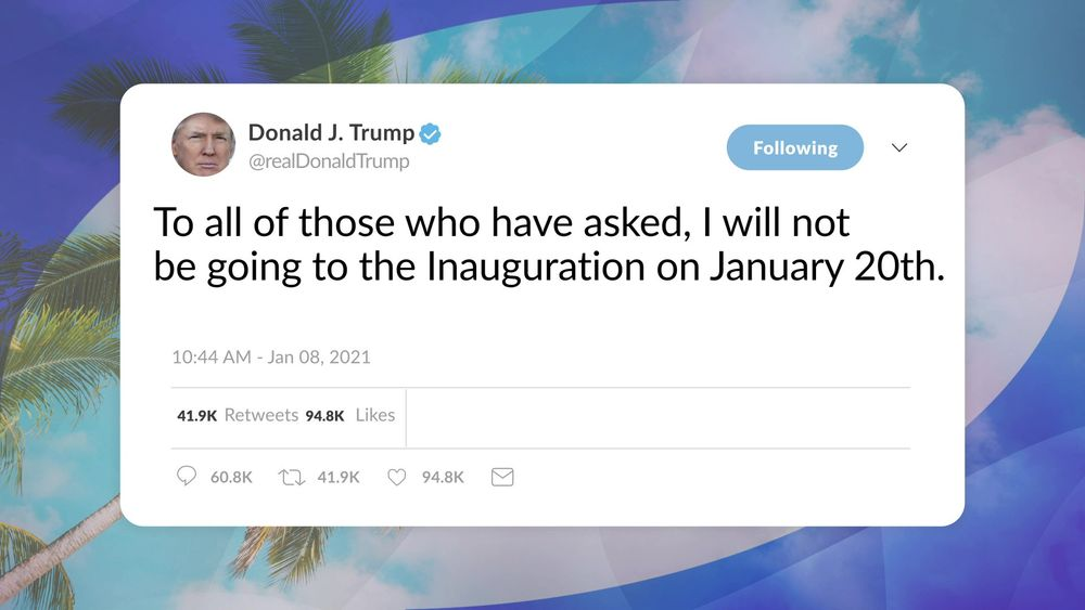 President Trump Will Not Be Attending Inauguration