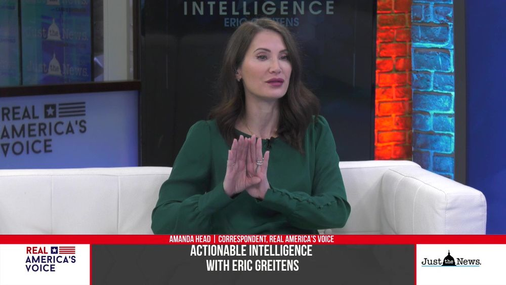 Eric Greitens speaks to Amanda Head correspondent of Real America's Voice