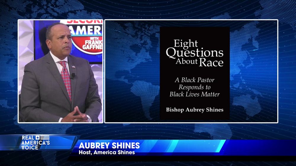 "Aubrey Shine introduces his new show ""America Shines with Aubrey Shines"""