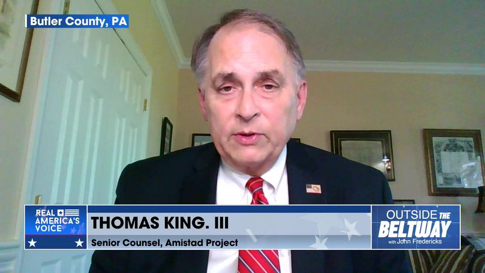John Fredericks is Joined By Senior Counsel, The Amistad Project, Thomas King III