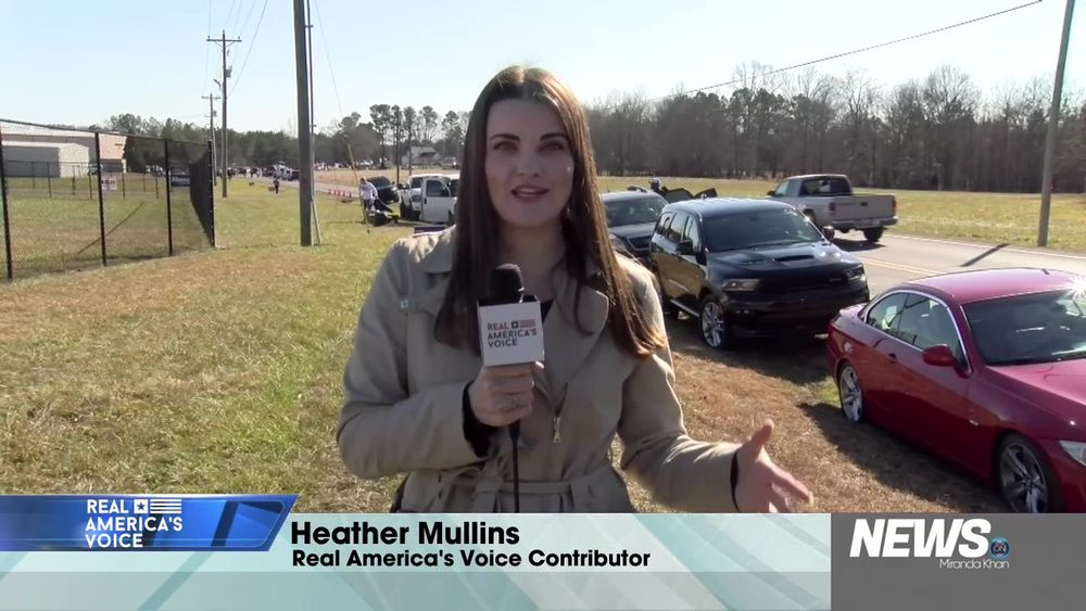 Heather Mullins Joins Us Live From Today's Trump Rally