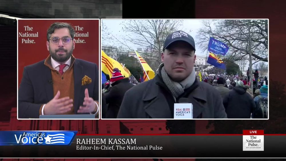 Raheem spends the whole show covering the Saving America protest, with live and breaking coverage.