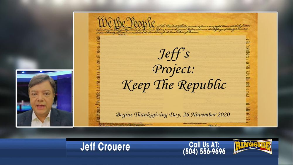 Jeff introduces The Keep The Republic Project January 8 2021