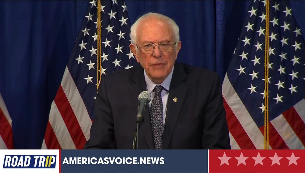 Bernie Sanders Makes A Statement At A Press Conference