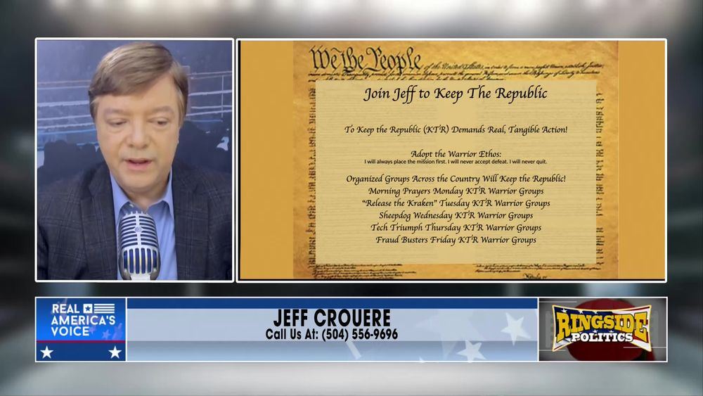 Jeff introduces The Keep The Republic Project June 4 2021