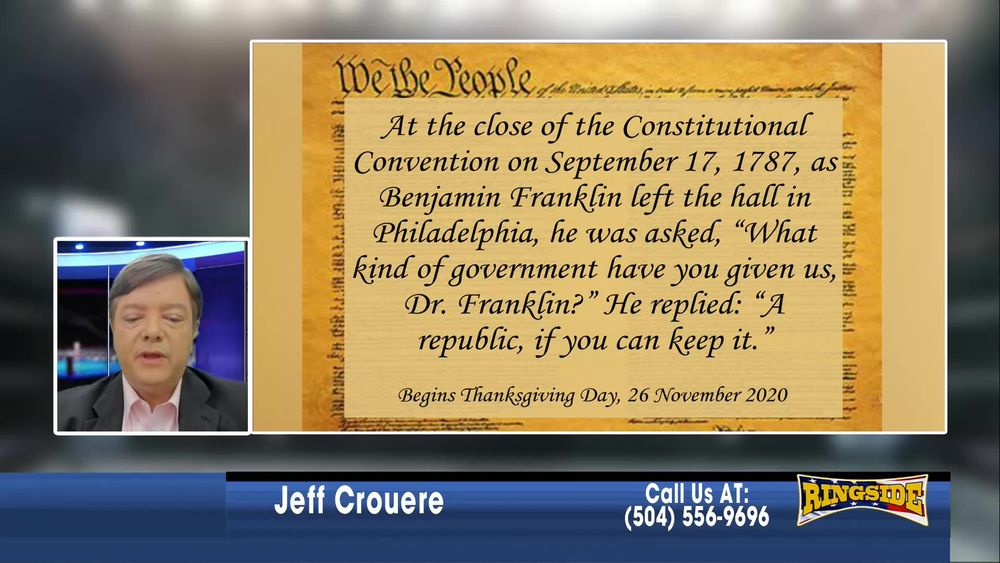 Jeff introduces The Keep The Republic Project January 7 2021