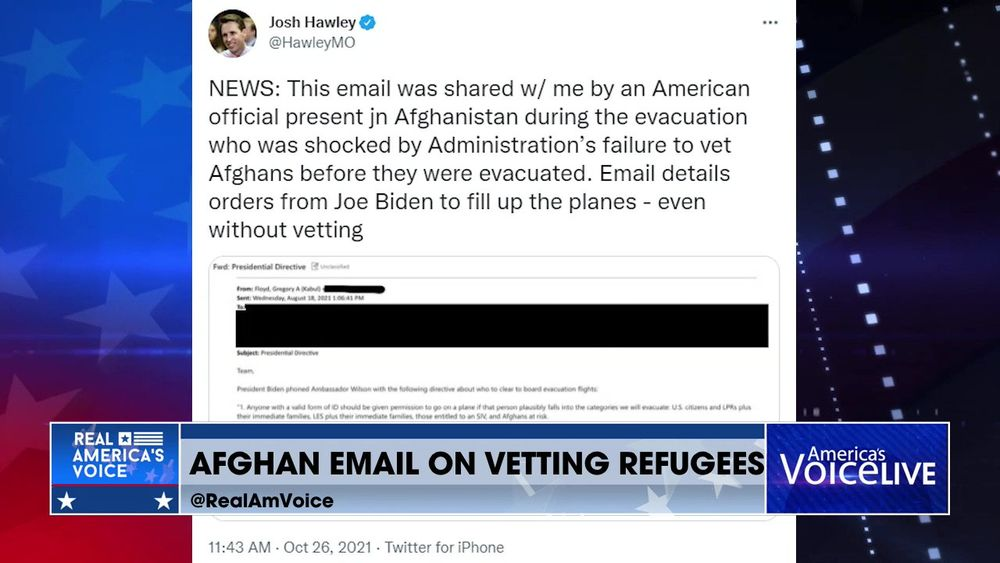Afghan Email Allegedly Shows The Biden Administration Didn't Vet Refugees