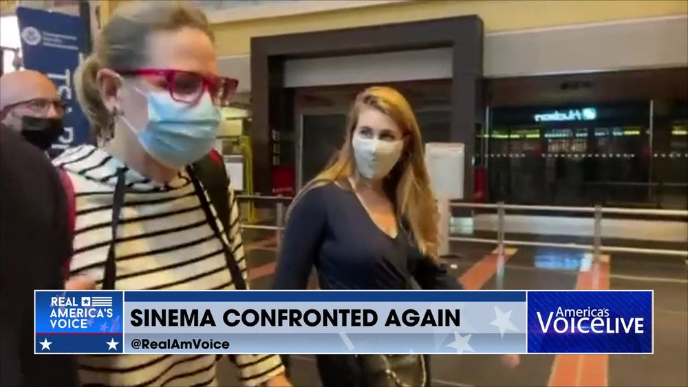 Senator Sinema Is Confronted At An Airport...Again
