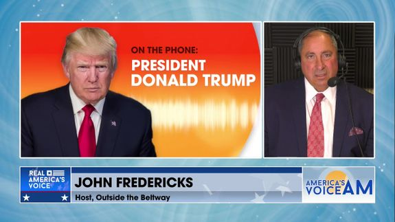 John Fredericks Has An Exclusive Interview With President Trump On Afghanistan