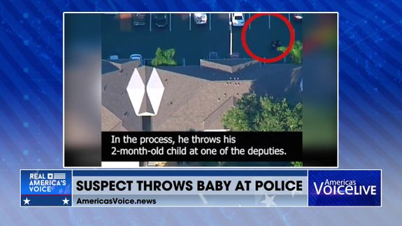 Suspect Throws Baby at Police